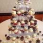 Bride-groom-decorated-butter-cookie-cupcake tree