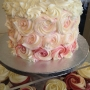 Ombre-pink-piped rosettes